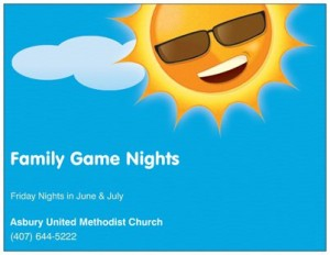 Summer Fun   Family Game Nights Children\s Ministry Youth